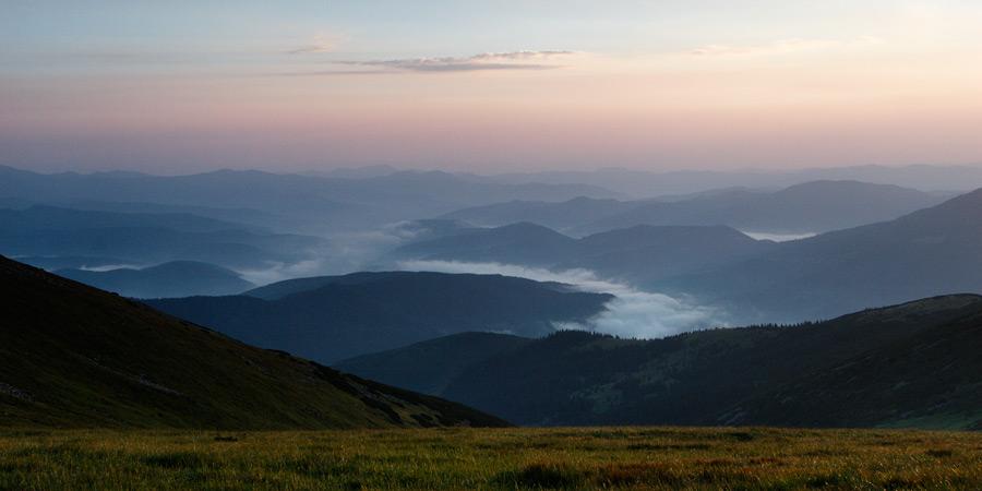 Einen Abend im Berge